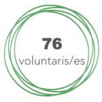 Total 76 voluntaris i voluntàries
